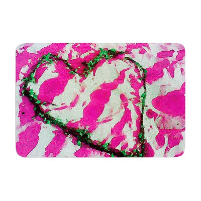 Tiger Love by Anne LaBrie Bath Mat Color: Pink, Size: 24 W x 36 L
