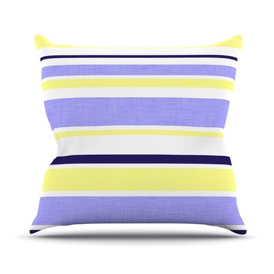 Jack Tar by Alison Coxon Outdoor Throw Pillow Color: Purple/Yellow