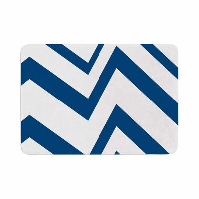 ZigZag by NL Designs Memory Foam Bath Mat Color: Navy