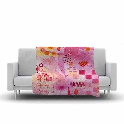 Sweet Dreams Fleece Throw Blanket Size: 80 L x 60 W