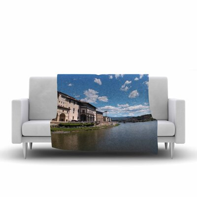 Canals of Italy Fleece Throw Blanket Size: 60 L x 50 W