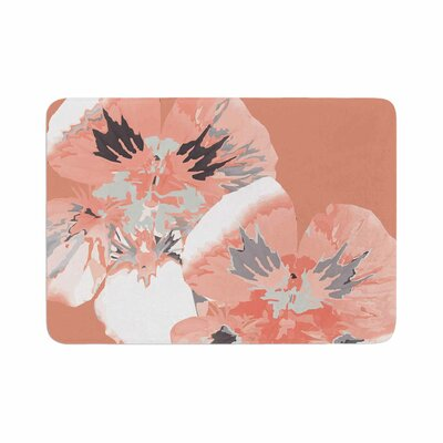 Graphic Flower Nasturtium by Love Midge Memory Foam Bath Mat Size: 24 L x 17 W, Color: Coral