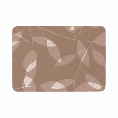Leaf by Alison Coxon Bath Mat Color: Tawny
