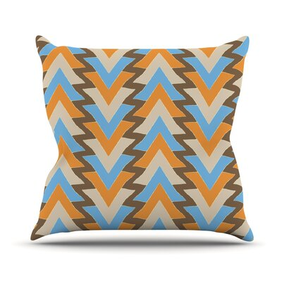 My Triangles Outdoor Throw Pillow Color: Blue