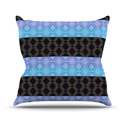 Denin Diamond by Nina May Outdoor Throw Pillow Color: Gradient Green