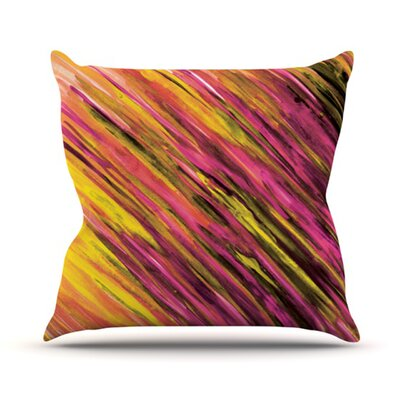 Theresa Giolzetti Outdoor Throw Pillow Color: Orange