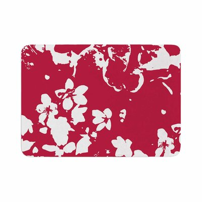 Helena Floral by Love Midge Memory Foam Bath Mat Size: 24 L x 17 W, Color: Yellow