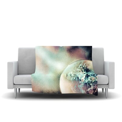 Space Dust Fleece Throw Blanket Size: 40 L x 30 W