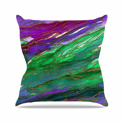 Agate Magic Throw Pillow Size: 18 H x 18 W x 6 D, Color: Lime Purple