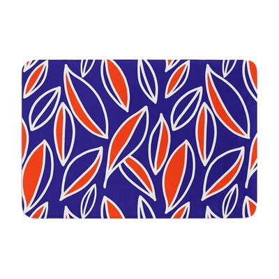 Leaving by Emine Ortega Bath Mat Color: Orange, Size: 24 W x 36 L