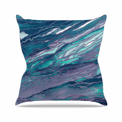 Agate Magic Throw Pillow Size: 18 H x 18 W x 6 D, Color: Lilac Teal