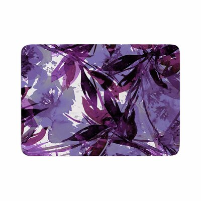 Floral Fiesta by Ebi Emporium Memory Foam Bath Mat Size: 24 L x 17 W, Color: Purple