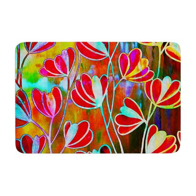 Effloresence by Ebi Emporium Bath Mat Color: Technicolor, Size: 24 W x 36 L