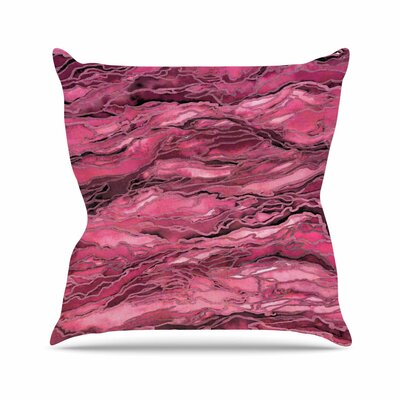 Marble Idea! Throw Pillow Size: 18 H x 18 W x 6 D, Color: Coral / Pink
