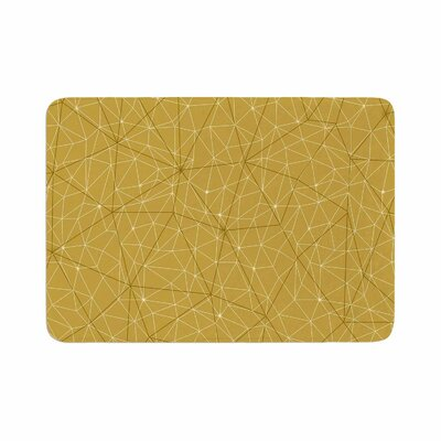 Wanderlust by Michelle Drew Memory Foam Bath Mat Size: 36 L x 24 W, Color: Yellow