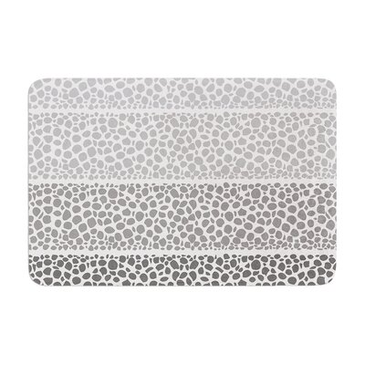 Riverside Pebbles Colored by Pom Graphic Design Bath Mat Color: Gray/White