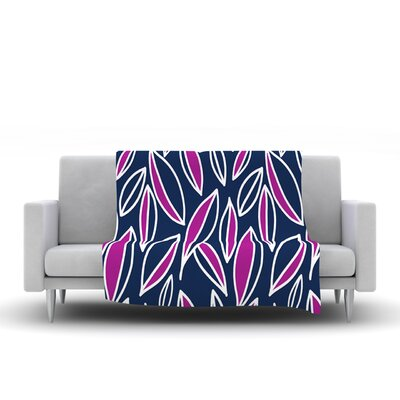 Leaving by Emine Ortega Fleece Throw Blanket Size: 60 H x 50 W, Color: Magenta