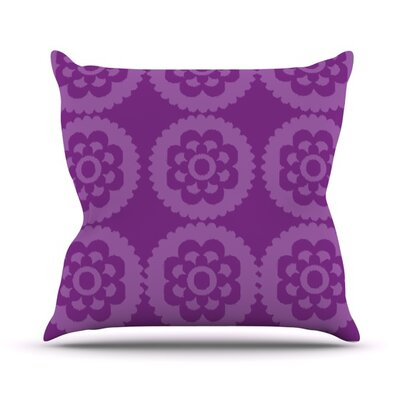 Moroccan by Nicole Ketchum Outdoor Throw Pillow Color: Purple