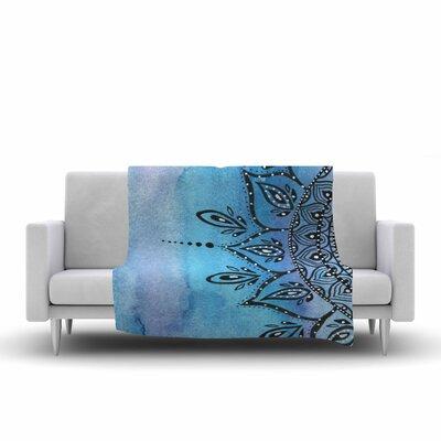 Mandala by Li Zamperini Fleece Blanket Color: Blue