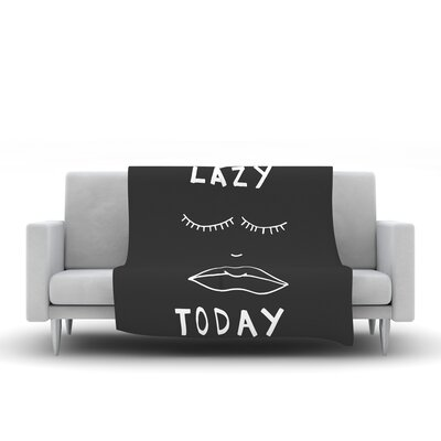 Lazy Today Fleece Throw Blanket Color: Gray, Size: 60 L x 50 W