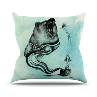 Hot Tub Hunter by Graham Curran Outdoor Throw Pillow Color: Multi
