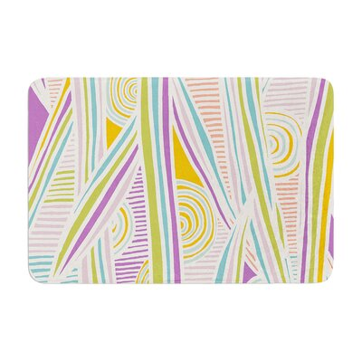 Graphique by Emine Ortega Bath Mat Color: White/Multi, Size: 17W x 24L