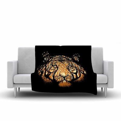 Hidden Hunter Throw Blanket Size: 80 L x 60 W
