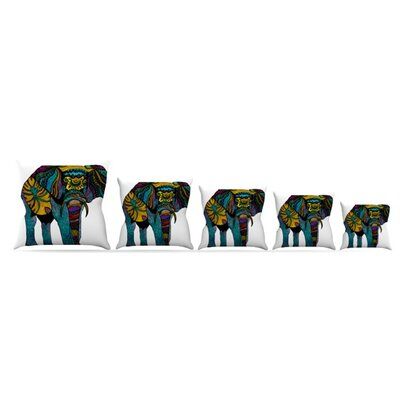 Elephant of Namibia Throw Pillow Size: 20 H x 20 W, Color: White/Color