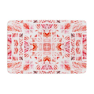 Scandanavian Square by Danii Pollehn Bath Mat Color: Pink, Size: 17W x 24L