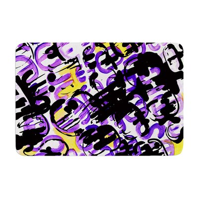 Theodoras by Theresa Giolzetti Bath Mat Color: Purple/Yellow