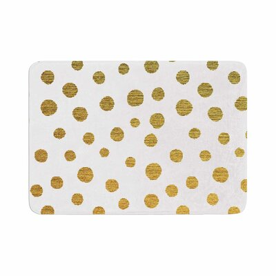 Golden Dots by Nika Martinez Bath Mat Color: White