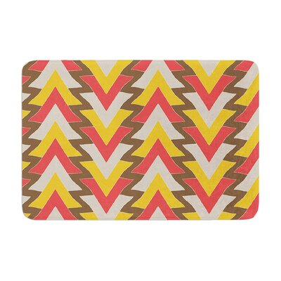 My Triangles by Julia Grifol Bath Mat Color: Red, Size: 17W x 24L