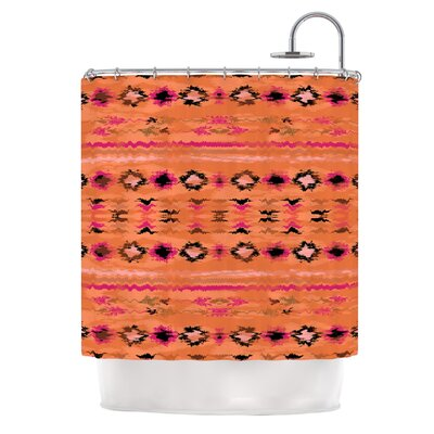 Navano by Nina May Tribal Shower Curtain Color: Orange