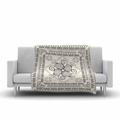 Paisley Into the Dream Throw Blanket Size: 60 L x 50 W, Color: Beige