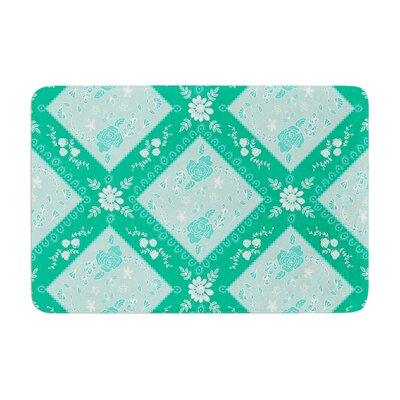 Diamonds by Anneline Sophia Bath Mat Color: Mint, Size: 17W x 24L