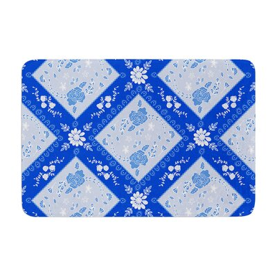 Diamonds by Anneline Sophia Bath Mat Color: Blue, Size: 17W x 24L