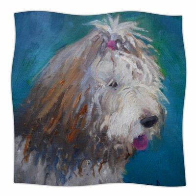 Shaggy Dog Story Fleece Throw Blanket Size: 90 L x 90 W