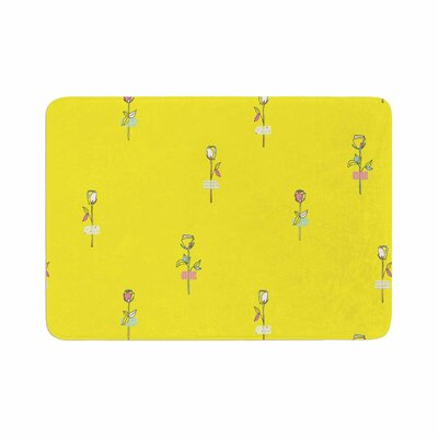 Rosewall by MaJoBV Memory Foam Bath Mat Color: Yellow