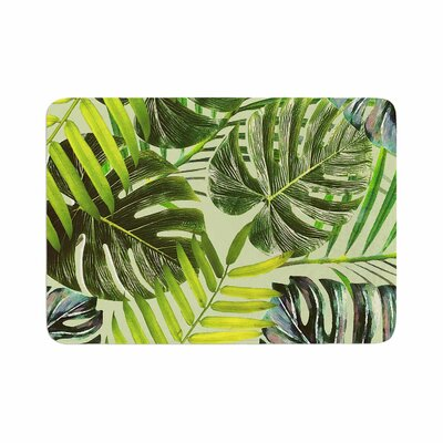 Jungle by Alison Coxon Bath Mat Color: Green