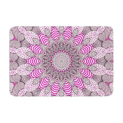 Dots and Stripes by Monika Strigel Bath Mat Color: Pink