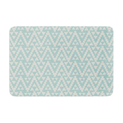 Geo Tribal by Amanda Lane Bath Mat Color: Turquoise Sky, Size: 17W x 24L