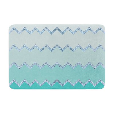 Avalon Ombre by Monika Strigel Bath Mat Color: Mint