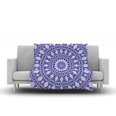 Kaleidoscope by Iris Lehnhardt Fleece Blanket Color: Blue, Size: 80 L x 60 W