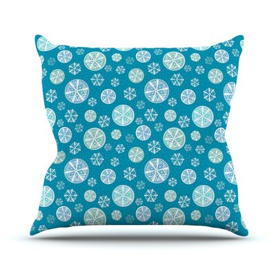 Snowflake Throw Pillow Size: 16 H x 16 W x 3 D, Color: Sky