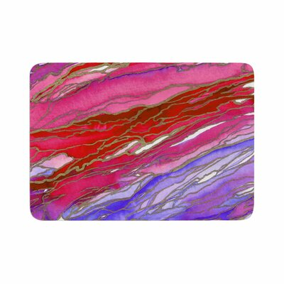 Agate Magic by Ebi Emporium Memory Foam Bath Mat Size: 36 L x 24 W, Color: Red/Lavender