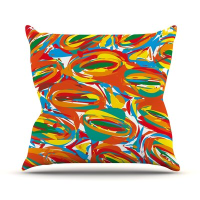 Outdoor Throw Pillow Color: Crazy