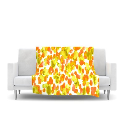 Fleece Throw Blanket Size: 40 L x 30 W, Color: Orange