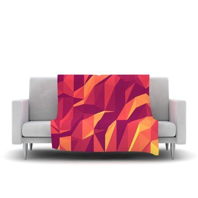 Abstract Mountains Fleece Throw Blanket Size: 60 L x 50 W