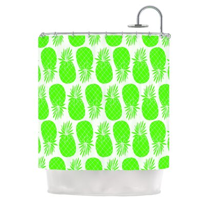 Pinya by Anchobee Shower Curtain Color: Lime