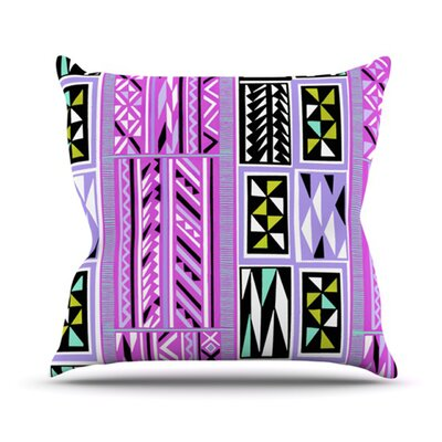 American Blanket Pattern by Vikki Salmela Outdoor Throw Pillow Color: Pink